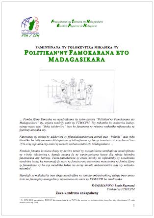 Politikan'ny Famokarana eto Madagasiakra